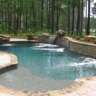 custom design waterfall pool, Atlanta Georgia