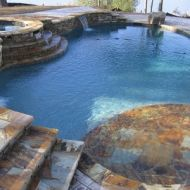 Hardscaped Custom Freeform Pool in Atlanta Georgia