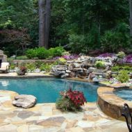 Custom Freeform pool with spa in Atlanta Georgia