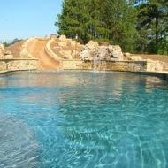 Freeform pool with slide atlanta georgia