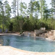 Custom Designed Infinity Pool Atlanta Georgia