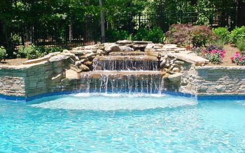 Custom Pool Waterfall Atlanta Georgia