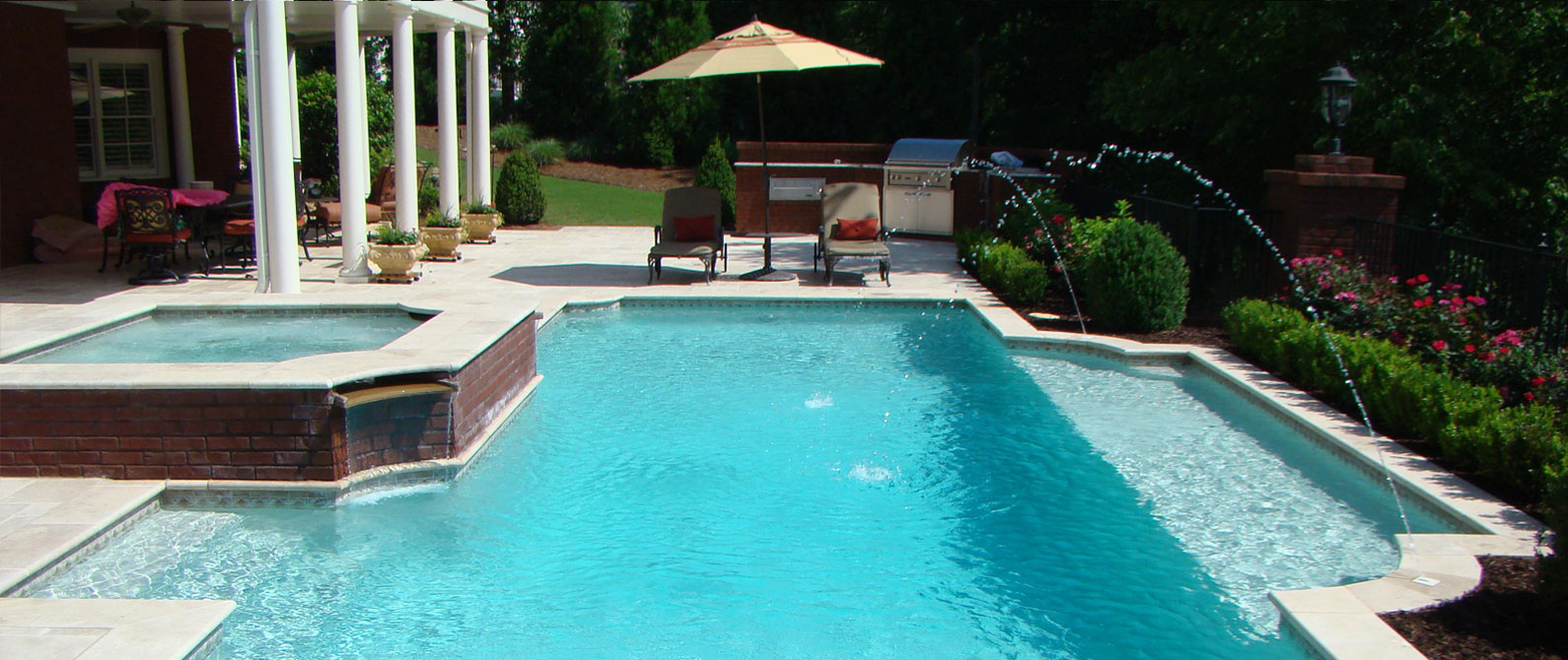 Custom Rectangular Pool Atlanta Georgia