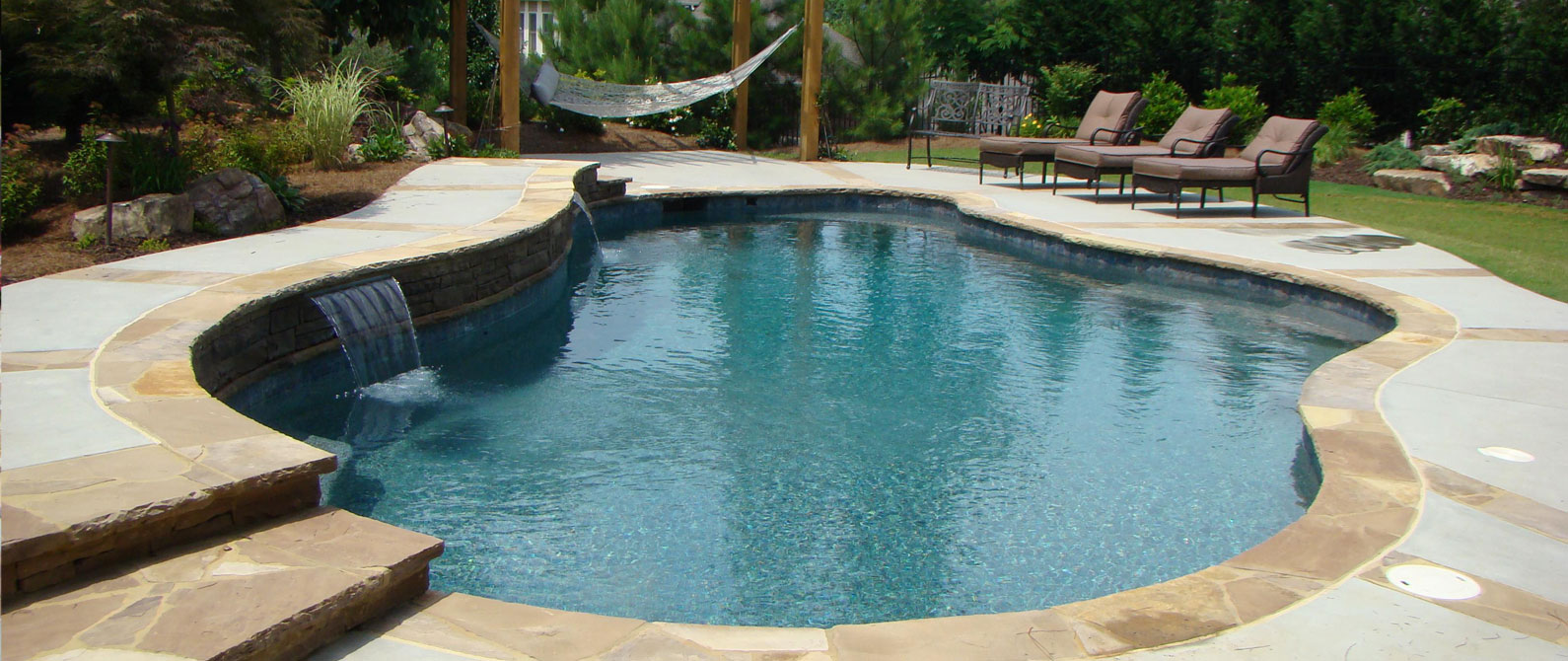 High quality pools and spas atlanta outdoor designs inc for Pool redesign