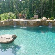 Custom Pool with Spa Atlanta Georgia
