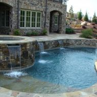 Custom Spa and Freeform Pool Atlanta Georgia