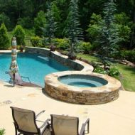 Custom Designed Freeform Pool Atlanta Georgia