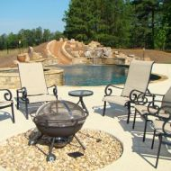 Freeform Pool with Outdoor Patio Atlanta Georgia