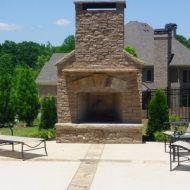 Custom Built Outdoor Fireplace Atlanta Georgia