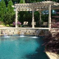 Custom pool waterfall atlanta georgia
