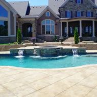 Custom pool with water feature in Atlanta Georgia