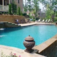 Custom Vanishing Freeform Pool Atlanta Georgia
