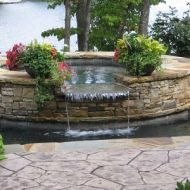 Waterfall in hardscape Atlanta Geogia