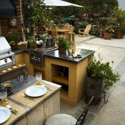 backyard kitchen build