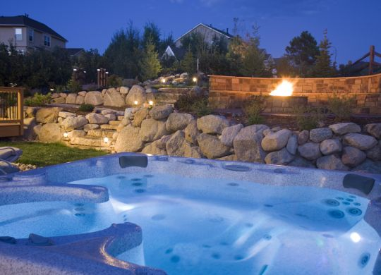 backyard kitchen pool atlanta fire pit atlanta